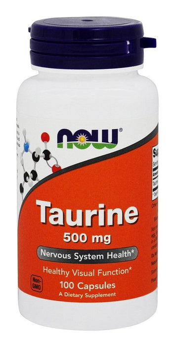 NOW Foods Taurine 500 mg,100 Capsules