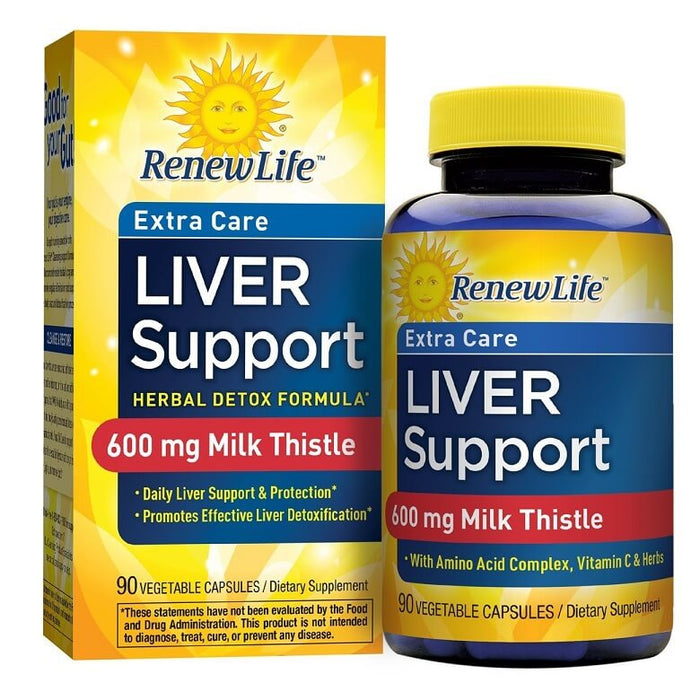 Renew Life Extra Care Liver Support, 90 Vegetable Capsules