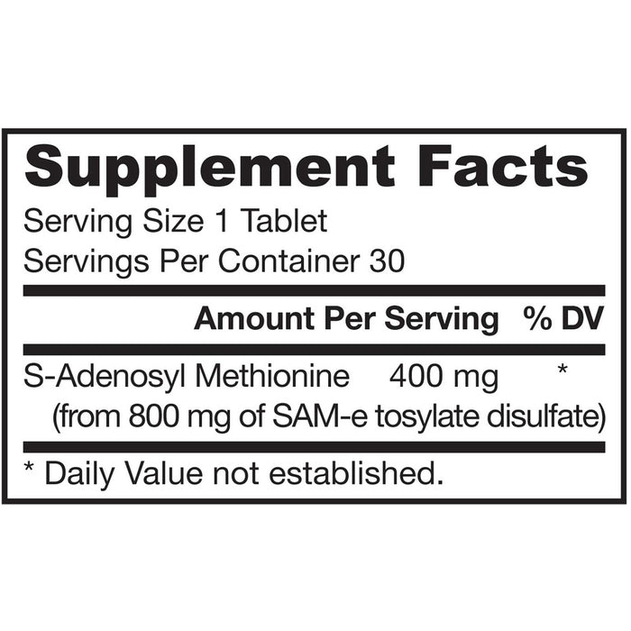 Jarrow Formulas SAM-e 400, 400 mg, 30 Tablets
