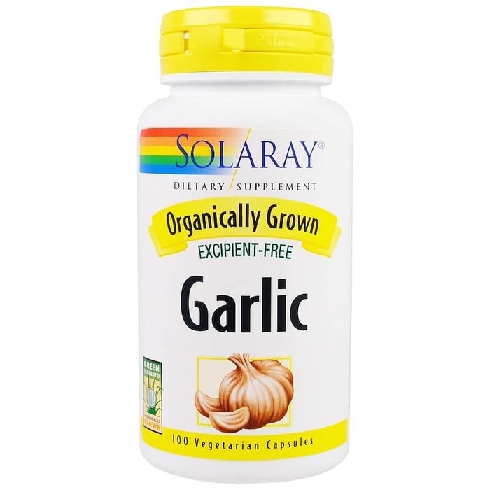 Solaray - Organic Garlic, 600 mg, 100 Veggie Caps