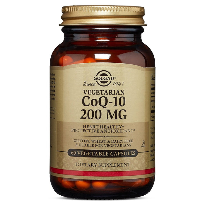 Solgar - Vegetarian CoQ-10, 200 mg, 60 Vegetable Capsules