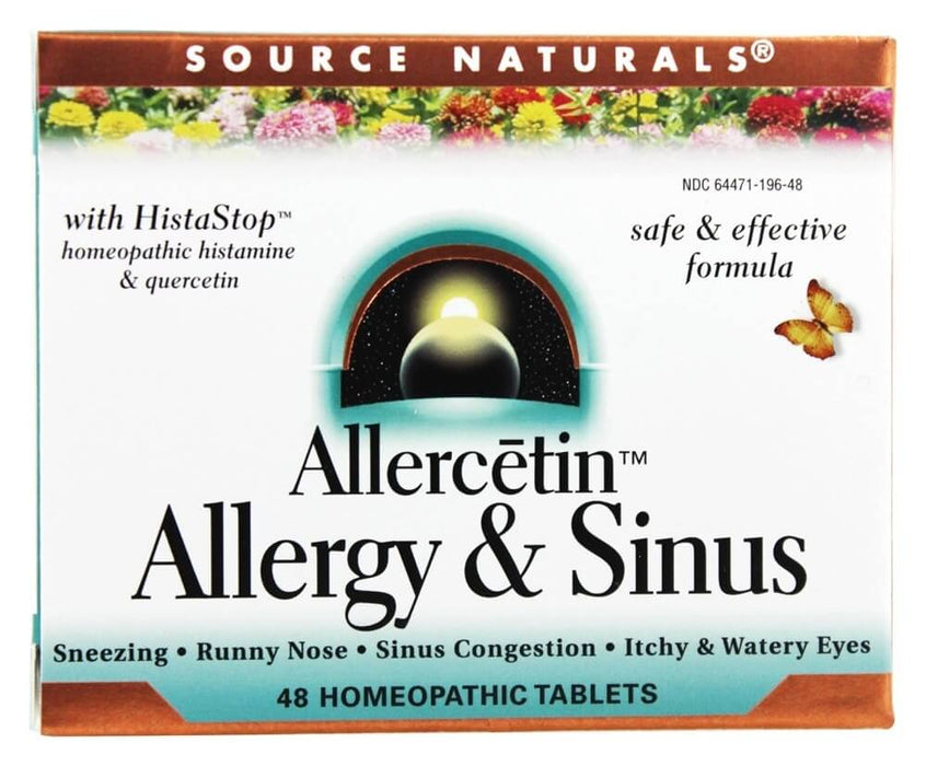 Source Naturals Allercetin, Allergy & Sinus, 48 Homeopathic Tablets