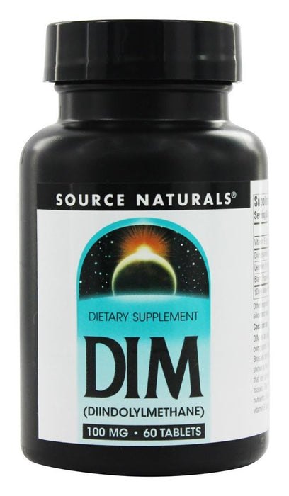 Source Naturals DIM (Diindolylmethane) 100 mg, 60 Tablets