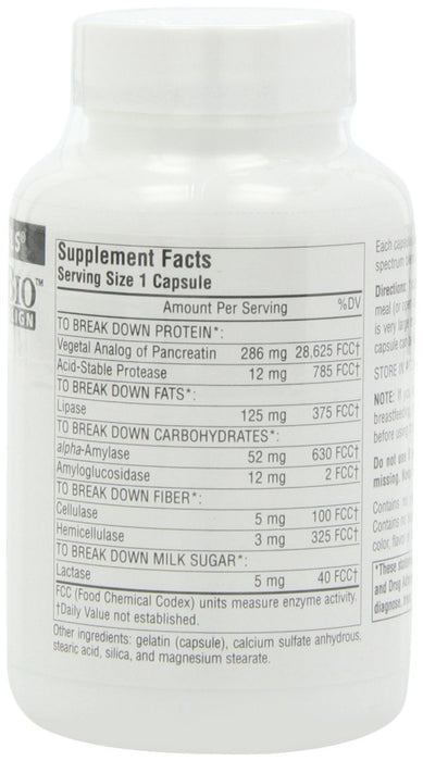Source Naturals Daily Essential Enzymes, 500 mg, 120 Capsules
