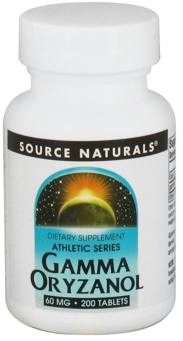 Source Naturals Gamma Oryzanol 60 mg, 200 Tablets