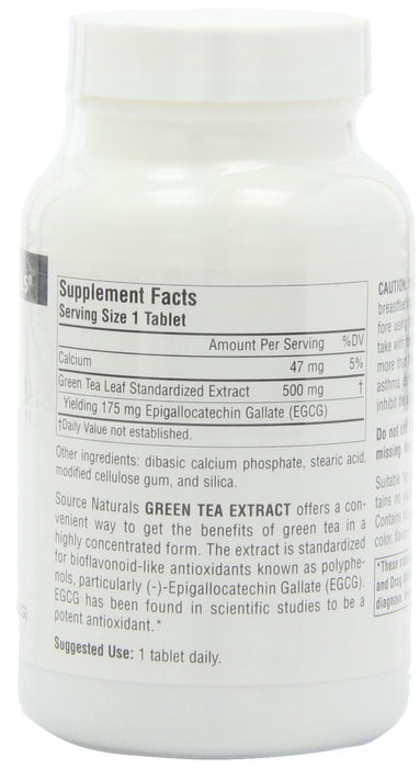 Source Naturals Green Tea Extract 500 mg, 120 Tablets