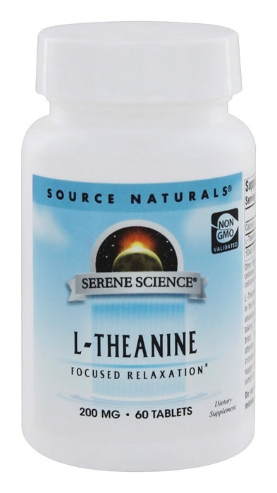 Source Naturals L-Theanine 200 mg, 60 Tablet - Expiration date 06/2021