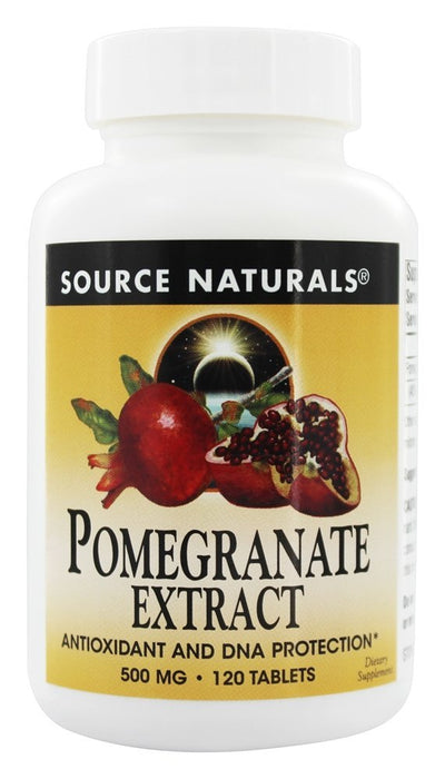 Source Naturals Pomegranate Extract 500 mg, 120 Tablets