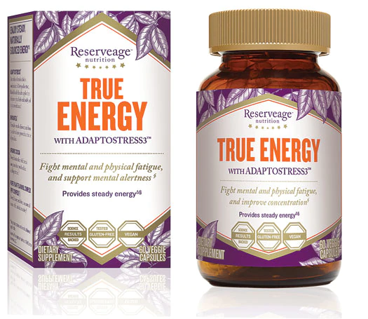 ReserveAge Nutrition - CocoaWell, True Energy, with AdaptoStress3, 60 Veggie Caps
