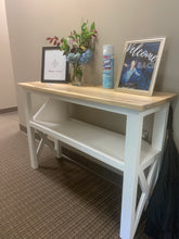 Load image into Gallery viewer, Rustic Farmhouse Console Table