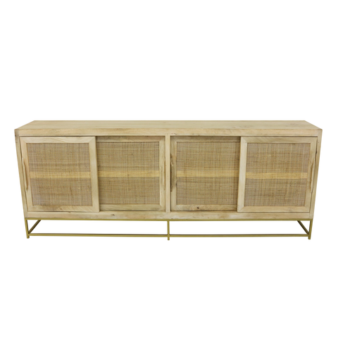 Image of Kick Rotan TV Dressoir Nature - 200 cm