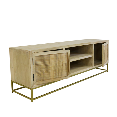 Image of Kick Rotan TV Dressoir Nature - 170cm