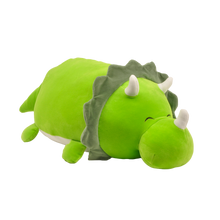 "Load image into Gallery viewer, 15"" Smoochy Pals Green Dino"