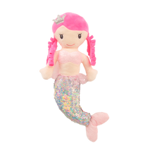 "Load image into Gallery viewer, 13"" Victoria Sequin Mermaid Pink"