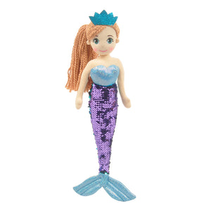 "18"" Perla Mermaid w/Reversible Sequin Tail"