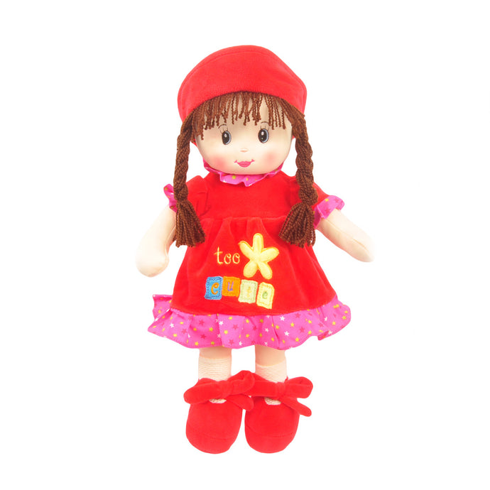 17.5 Nidia Sweet Cakes Rag Doll Red