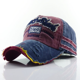 Unisex Old worn-out baseball cap 1969 letter hat