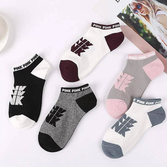 Victoria Secret Pink Ankle No Show Socks Random Colors 10 pair
