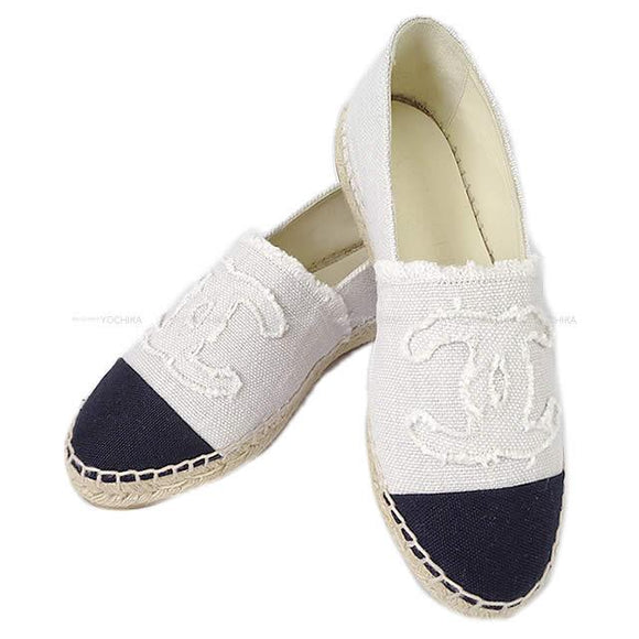 Chanel Espadrilles Canvas Off  (2 Colors)