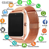 Smart Watch GT08 Plus Metal Clock w/Sim Card Slot Push Message Bluetooth Connectivity Android IOS