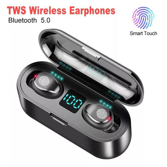 New 5.0 Bluetooth Earbuds 8D Stereo Wireless Mini Headset Power Bank