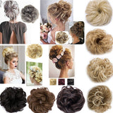 All Matching Women's Synthetic Hair Scrunchies 10 Color Curly Messy Bun Hair