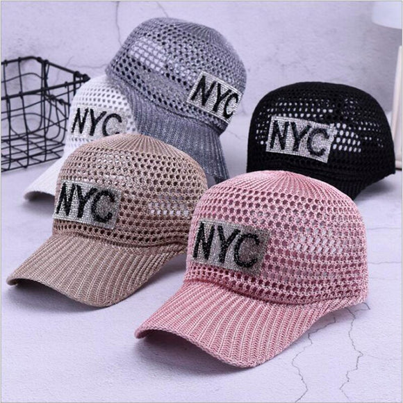 Women's-Junior's-Teens Breathable Fashion Baseball Cap Letter Diamond (5 Colors)
