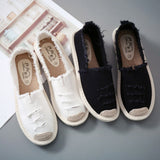 Women Flats Shoes Slip On Ladies Canvas Espadrilles