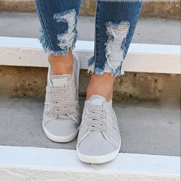 Women's Summer Flats Canvas Casual Shoes (Several Colors)
