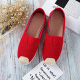 Women's Fashion Breathable Case Canvas Flats
