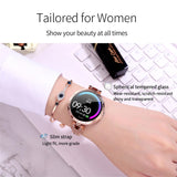 AK15 Women Smart Watch Fashion Steel Waterproof Heart Rate Fitness Tracker for Android IOS