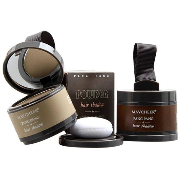 Hair Line Shadow Powder With Mirror & Puff Extract Easy To Wear Concealer Highlighter 4 Colors