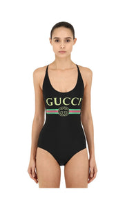 LOGO PRINT LYCRA ONE PIECE SWIMSUIT GUCCI