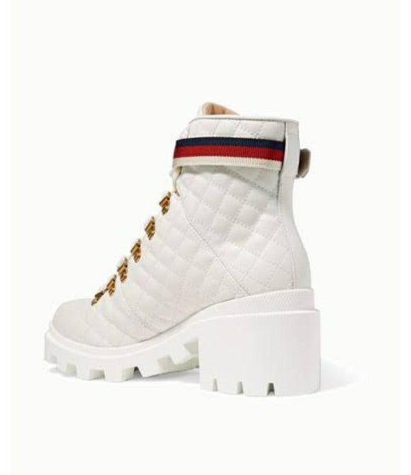 Gucci   Women's White Heeled Ankle Boots