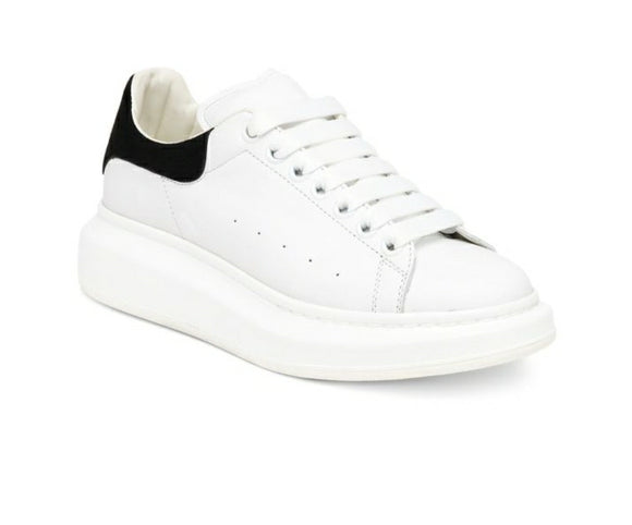 ALEXANDER MCQUEEN Shock White w/Black Trainers Leather Runway Sneakers