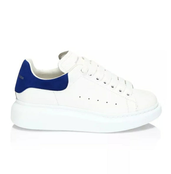 ALEXANDER MCQUEEN Shock White w/Blue Trainers Leather Runway Sneakers