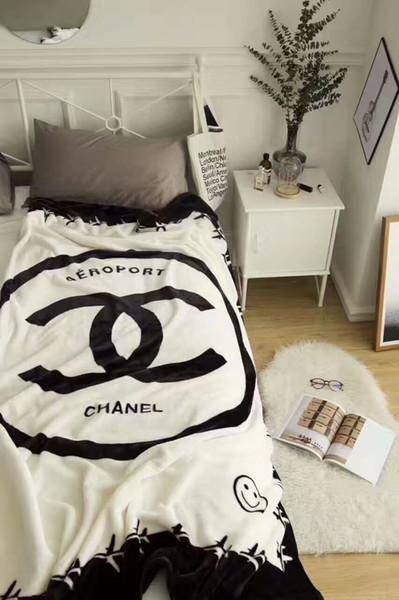 Chanel Flannel Blanket Travel Throw 50