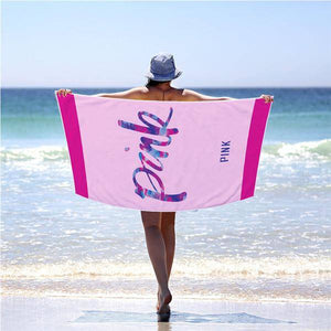 Victoria Secret Pink Beach Towel Large Cotton with Pink