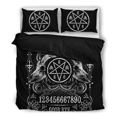 View Image of Brutal Ouija Bedding Set