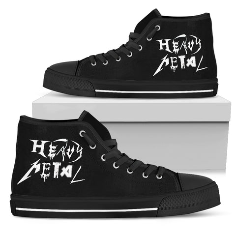 Heavy Metal Men's High Top Canvas Shoe
