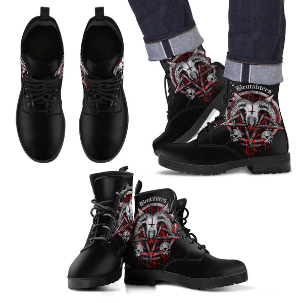 Brutal Baphomet Men's Leather Boots