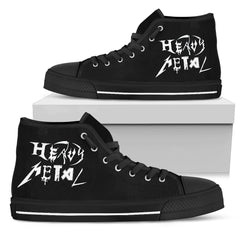 View Image of Heavy Metal Women's High Top Canvas Shoe