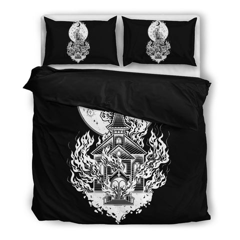 Burning Church Bedding Set