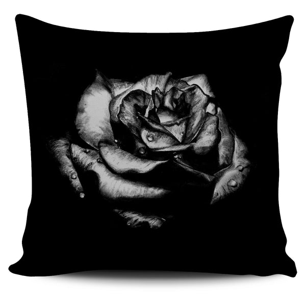 Gothic Rose Pillow Cover