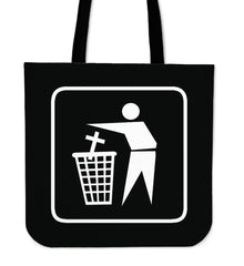 Another view of Religion is Rubbish Tote Bag