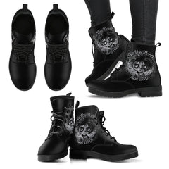 Another view of Moon and Bats Women's Leather Boots