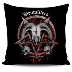 Another view of Brutal Baphomet Pillow Cover