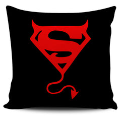 Another view of Super Satan Pillow Cover