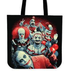Another view of Brutal Clowns Tote Bag
