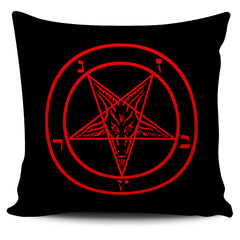 Another view of Sigil of Baphomet Pillow Cover